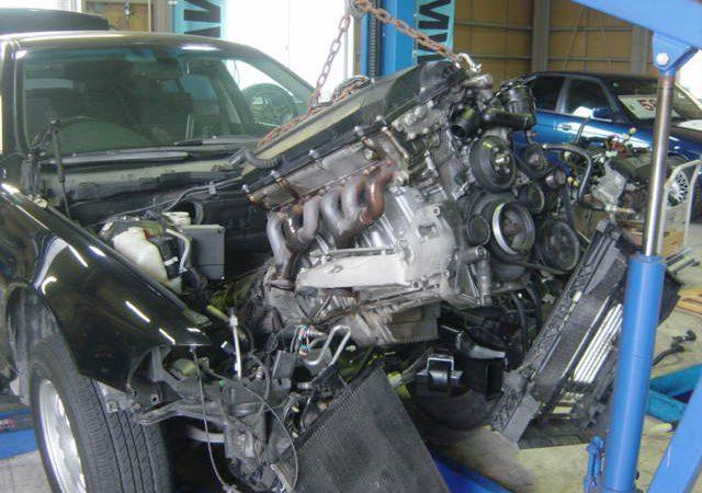 5シリーズ E39 528i エンジン交換
