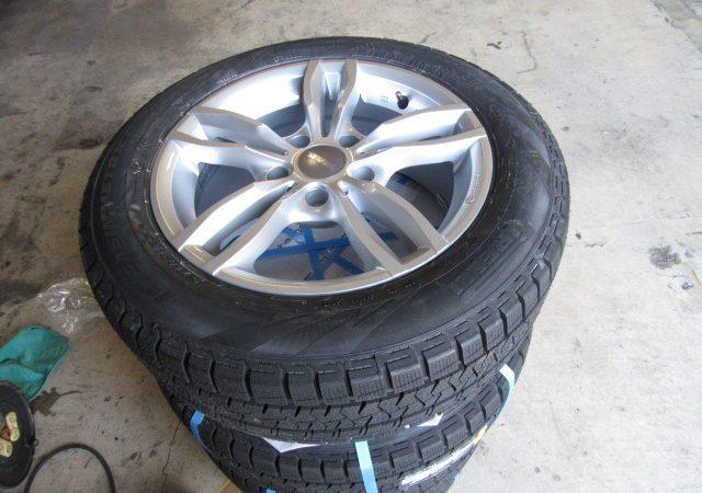 3シリーズ F30 320dMスポーツ 冬タイヤ取り付け