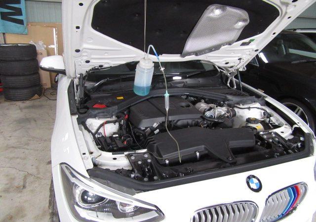 1シリーズ F20 116i レックス施工とエンジンオイルとオイルエレメント交換